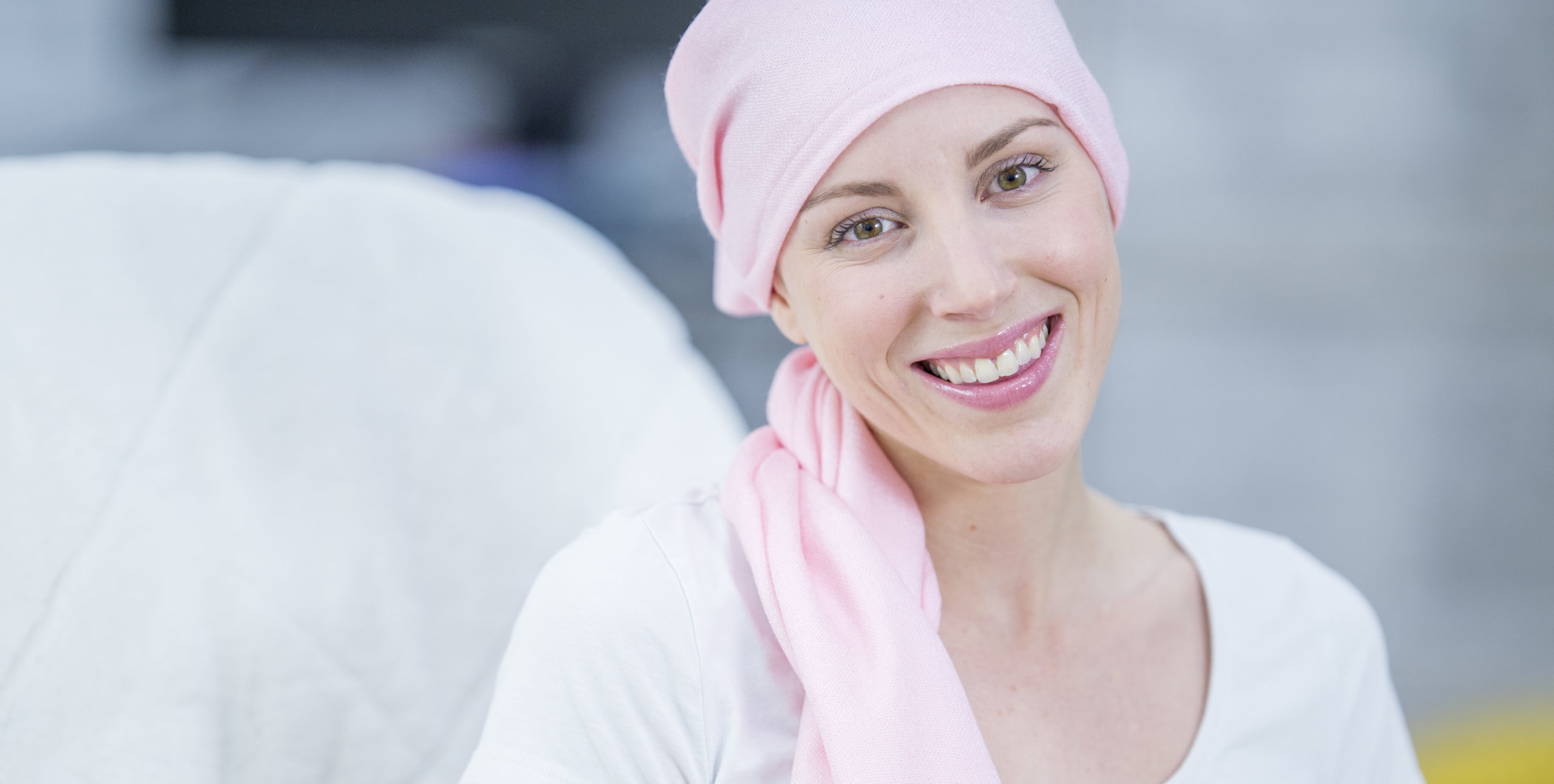 Cancer Patient in Head Scarf