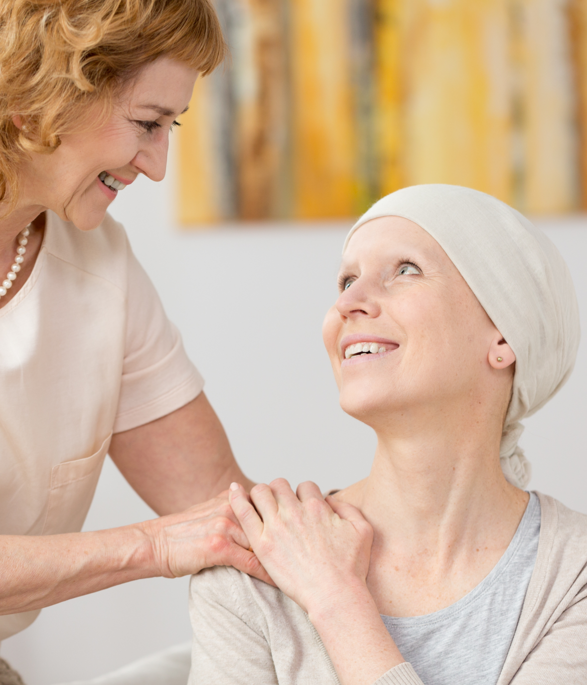 Cancer Patient and Caretaker